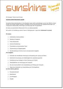 Kfm. Mitarbeiter (M/W/D) in Vollzeit